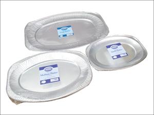 Essential Foil Tray Foil Platter Medium 45cm x 3 FPLMED