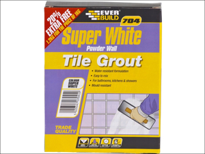 Everbuild Tile Grout 704 Wall Tile Grout 1kg