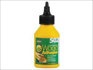 Everbuild Wood Adhesive 502 All Purpose Waterproof Wood Adhesive 125ml