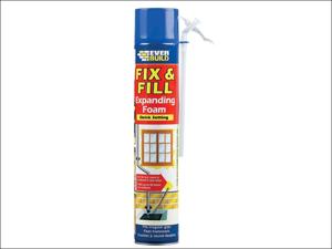 Everbuild Foam Filler Fill & Fix Expanding Foam 750ml