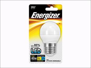 Energizer LED Golf Light Bulb Golf LED 470Lumens Warm White E27 Blistered