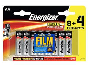 Energizer Standard Batteries Energizer Max+ Powerseal 8 + 4 AA S12186