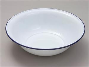 Falcon Washing Up Bowl Round Wash Basin White 36cm 41036