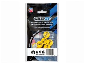 Grip It Plasterboard Fixings Gripit Yellow 15mm x 8 152-258