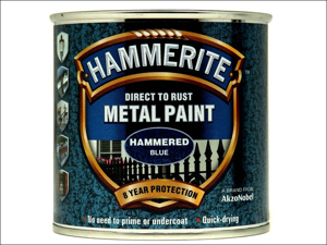 Hammerite Metal Hammered Paint Direct To Metal Hammered Blue 750ml