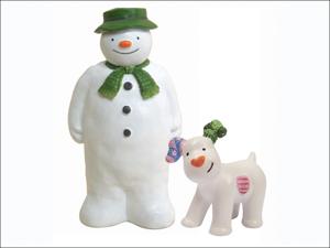 Anniversary House Cake Decoration The Snowman & Snowdog Figurines BX188
