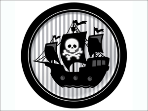 Anniversary House Disposable Plates Pirate Party Dinner Plates x 8 PC425018
