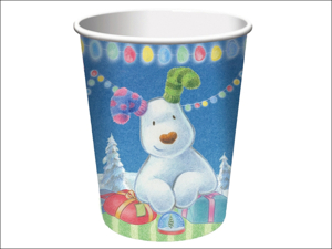 Anniversary House Disposable Cups The Snowman + Snowdog Cups x 8 PC18D1