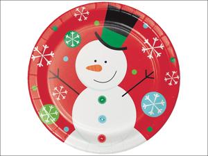 Anniversary House Disposable Plates Dinner Plates Snowflake Fun x 8 PC324109