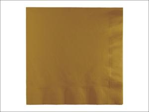 Anniversary House Paper Napkins Lunch Napkins 3Ply Glitter Gold x 50 PC583276B