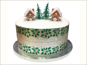 Anniversary House Cake Decoration Mini Gingerbread House Topper BX298