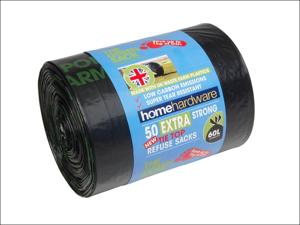 Home Label Bin Liner Green Extra Strong Tie Refuse x 50