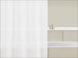 Home Label Shower Curtain Polypropylene Shower Curtain Plain White 95003