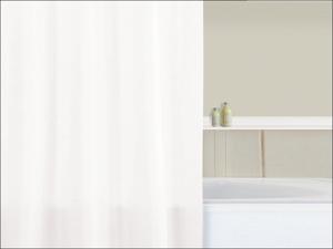 Home Label Shower Curtain Shower Curtain Plain White 95010