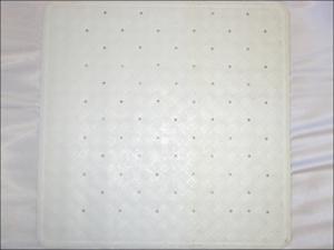Home Label Shower Mat Rubber Shower Mat White 95058