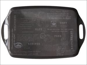 Home Living Melamine Tray Tea Tray & Handles Vintage Recipes