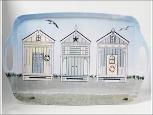 Home Living Melamine Tray Tea Tray + Handles Sun Beach