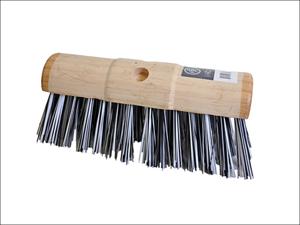 Hills Brush Broom Head Yard Broom Round Back PVC Stiff 330mm VR26