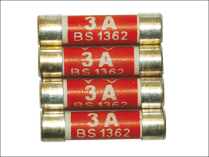 Home Electrical 03 Amp Fuse Fuses 3 Amp x 4 HHBP1003