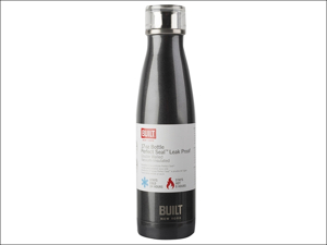 Built Water Bottle Double Walled Water Bottle Stainless Steel 17oz Grey 5193233