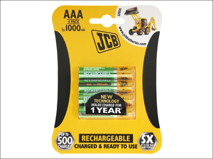 JCB Rechargeable Batteries Rechargeable Battery AAA x 4 1000Mah
