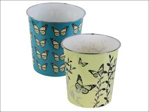 JVL Wastepaper Bin Waste Paper Bin Butterfly 16-293