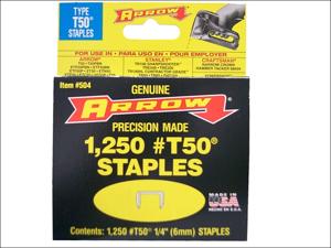 Arrow Staple Gun Refills T-50 Staples 1/2in x 1250 A50824