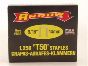 Arrow Staple Gun Refills T-50 Staples 9/16in x 1250 A50924