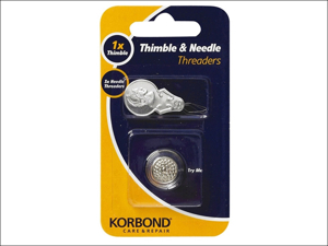 Korbond Sewing Accessories Thimble & Needle Threaders 4 Piece 110155