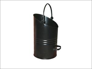 Bakaware Coal Hod Ellipse Hod Black Metal 16in EH16/EHBLK