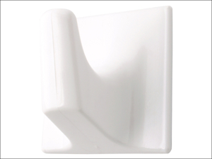 Basics Self Adhesive Hook Self Adhesive Hook Square White Small x 5 042248
