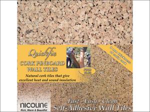 Nicoline Notice Board Self Adhesive Cork Pinboard x 4 PB-SA