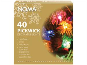 Noma Indoor Christmas Lights Pickwick Dimple Light Set x 40 P4311