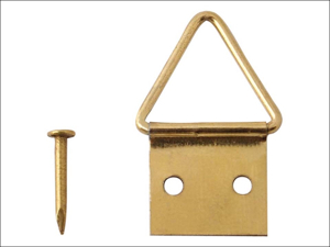 Basics Picture Hook Picture Frame Hangers Small Electro Brass x 4 3164