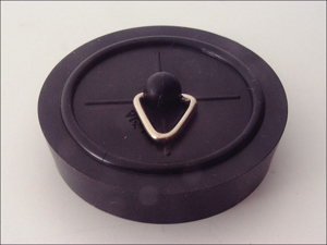 Basics Sink & Bath Plug Sink Plug Black 1.75in 001542