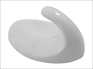 Basics Self Adhesive Hook Self Adhesive Hook Oval White Large x3 042286