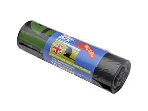 BPI Bin Liner Heavy Duty Refuse Liner Tie Top x 10 Green GR0770