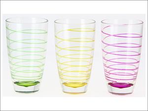 Cerve Hi Ball Glass Ciclone Long Drinks Glass x 3 M71160