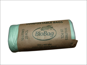 Biobag Recycle Caddy Liner Compostable Bin Liner 30L x 10