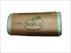 Biobag Recycle Caddy Liner Compostable Bin Liner 8L x 25