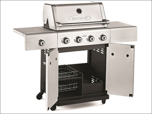 Outback Gas Barbecue Jupiter 4 Burner Barbecue + Regulator Stainless Steel + Accessories OUT370616