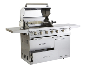 Outback Gas Barbecue Signature 4 Burner Gas Barbecue Stainless Steel OUT370591