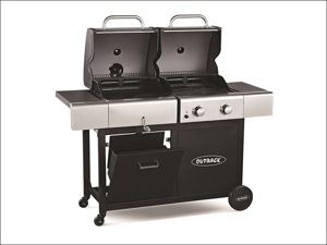 Outback Gas Barbecue Dual Fuel Charcoal/ Gas 2 Burner + Regulator OUT370635