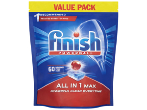 Reckitts Dishwasher Detergent Finish All In One Max Original x 60