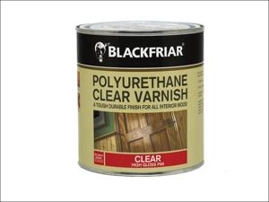 Blackfriar Clear Interior Varnish Polyurethane High Gloss Varnish 1L P99