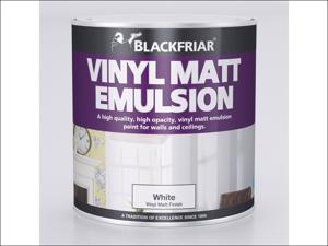 Blackfriar Matt Emulsion Paint Vinyl Matt Emulsion Black 1L