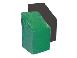 Bosmere Chair Cover Reversible Stacking Chair Cover Green & Black P370