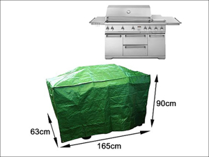 Bosmere Barbecue Cover Kitchen BBQ Cover Reversible Black/ Green P523