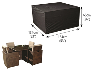 Bosmere Table & Chair Set Cover 4 Seater Cube Set Cover Extra Large M655
