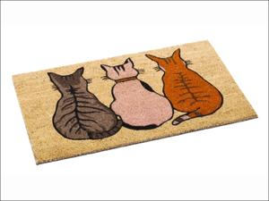 Bruce Starke Door Mat Coir Mat Vico Cats Assorted 45 x 75cm